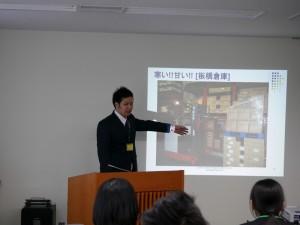 高校卒業後、7年間倉庫マンとして社会で働いてきた藤井さんの体験談に、高校生も引き込まれます。