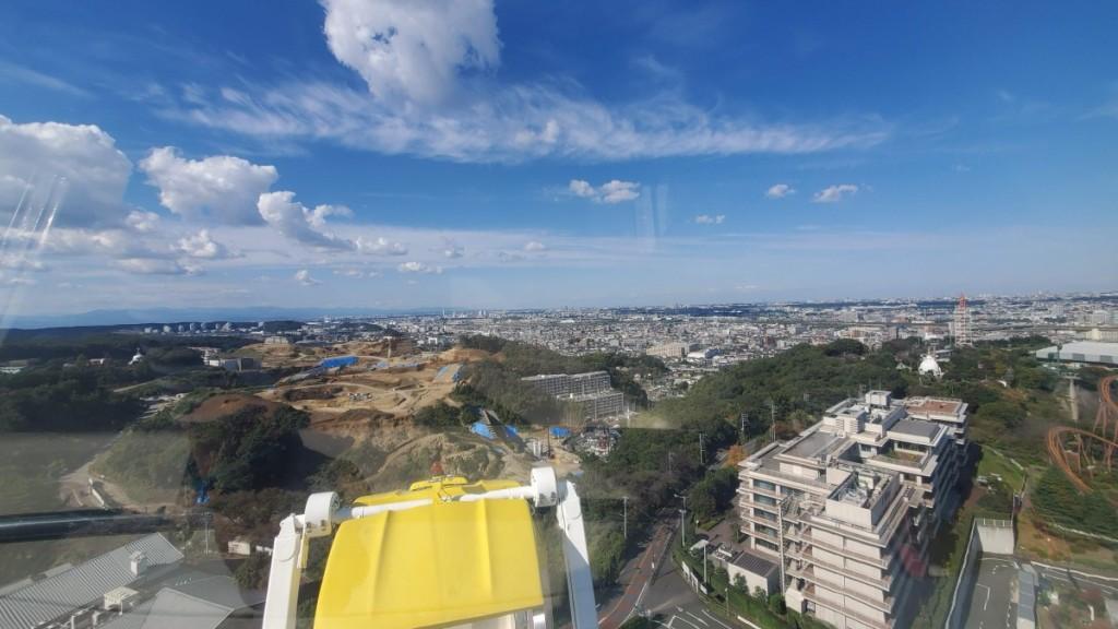 よみうりランドは、丘陵の上にあります。観覧車からの眺めは最高でした。