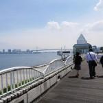 竹芝旅客ターミナルから、少し歩きます。