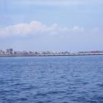 中央防波堤。やがて、ここに巨大なコンテナ埠頭が整備されます。