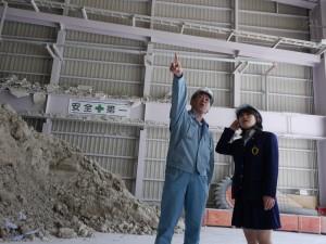 巨大な石こうボード再生工場に驚きです。