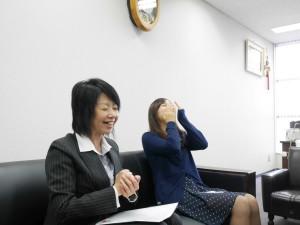 インタビューは和やかな雰囲気で行われた。