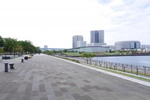 ゴール。豊洲公園です。