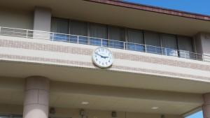 時計は、地震発生後、停電した時間のままで、今も時を止めている。