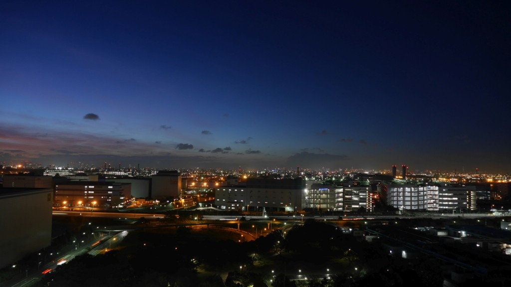 川崎マリエン展望室から北方面を望む。