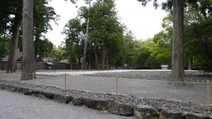 伊勢神宮外宮。手前の空き地は、式年遷宮によって、前の正宮があった場所です。