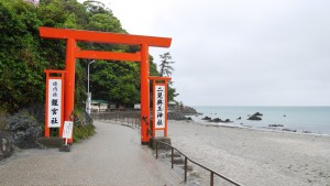 二見興玉神社。伊勢市の海岸部にあります。