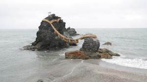 二見興玉神社の夫婦岩。